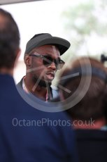 World © Octane Photographic Ltd. Formula 1 - American Grand Prix - Sunday - Paddock. Usain Bolt meets with the media. Circuit of the Americas, Austin, Texas, USA. Sunday 22nd October 2017. Digital Ref: 1992LB1D8197