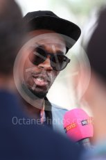 World © Octane Photographic Ltd. Formula 1 - American Grand Prix - Sunday - Paddock. Usain Bolt meets with the media. Circuit of the Americas, Austin, Texas, USA. Sunday 22nd October 2017. Digital Ref: 1992LB1D8223