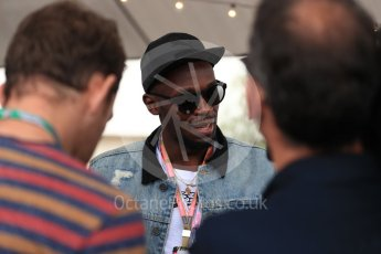 World © Octane Photographic Ltd. Formula 1 - American Grand Prix - Sunday - Paddock. Usain Bolt meets with the media. Circuit of the Americas, Austin, Texas, USA. Sunday 22nd October 2017. Digital Ref: 1992LB1D8240