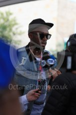 World © Octane Photographic Ltd. Formula 1 - American Grand Prix - Sunday - Paddock. Usain Bolt meets with the media. Circuit of the Americas, Austin, Texas, USA. Sunday 22nd October 2017. Digital Ref: 1992LB1D8267