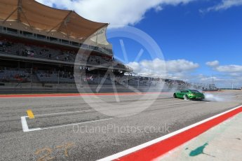 World © Octane Photographic Ltd. Formula 1 - American Grand Prix - Sunday - Paddock. Lewis Hamilton takes Usain Bolt on a Hot Lap of COTA. Circuit of the Americas, Austin, Texas, USA. Sunday 22nd October 2017. Digital Ref: 1992LB2D6943