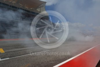 World © Octane Photographic Ltd. Formula 1 - American Grand Prix - Sunday - Paddock. Lewis Hamilton takes Usain Bolt on a Hot Lap of COTA. Circuit of the Americas, Austin, Texas, USA. Sunday 22nd October 2017. Digital Ref: 1992LB2D6976