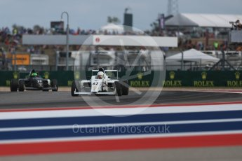 World © Octane Photographic Ltd. Formula 4 – F4 United States Championship - American Grand Prix – Race 1. Circuit of the Americas (COTA), Austin, Texas, USA. Saturday 21st October 2017. Raphael Forcier - Indy Motorsports Group and Justin Sirgany - Global Racing Group. Digital Ref:1982LB1D6843