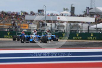 World © Octane Photographic Ltd. Formula 4 – F4 United States Championship - American Grand Prix – Race 1. Circuit of the Americas (COTA), Austin, Texas, USA. Saturday 21st October 2017. John Paul Southern Jr, Parker Locke and Dalton Peak - Jay Howard's MDD. Digital Ref:1982LB1D6872