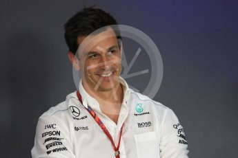 World © Octane Photographic Ltd. Formula 1 - Austria Grand Prix - FIA Team Press Conference, Part 1. Toto Wolff - Executive Director & Head of Mercedes-Benz Motorsport. Red Bull Ring, Spielberg, Austria. Friday 7th July 2017. Digital Ref: 1866LB1D1530