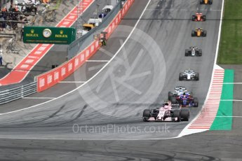 World © Octane Photographic Ltd. Formula 1 - Austria Grand Prix - Sunday - Race. Esteban Ocon - Sahara Force India VJM10. Red Bull Ring, Spielberg, Austria. Sunday 9th July 2017. Digital Ref: 1875LB1D5032