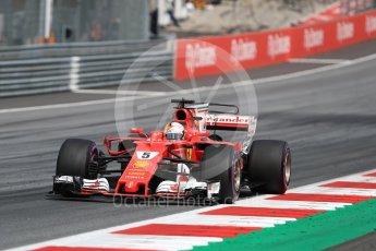 World © Octane Photographic Ltd. Formula 1 - Austria Grand Prix - Sunday - Race. Sebastian Vettel - Scuderia Ferrari SF70H. Red Bull Ring, Spielberg, Austria. Sunday 9th July 2017. Digital Ref: 1875LB1D5515