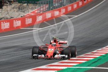 World © Octane Photographic Ltd. Formula 1 - Austria Grand Prix - Sunday - Race. Kimi Raikkonen - Scuderia Ferrari SF70H. Red Bull Ring, Spielberg, Austria. Sunday 9th July 2017. Digital Ref: 1875LB1D5538