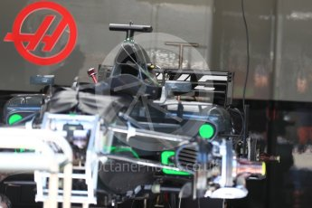 World © Octane Photographic Ltd. Formula 1 - Austria Grand Prix - Thursday - Pit Lane. Haas F1 Team VF-17. Red Bull Ring, Spielberg, Austria. Thursday 6th July 2017. Digital Ref: 1861LB1D9097