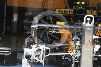 World © Octane Photographic Ltd. Formula 1 - Austria Grand Prix - Thursday - Pit Lane. Renault Sport F1 Team R.S.17. Red Bull Ring, Spielberg, Austria. Thursday 6th July 2017. Digital Ref: 1861LB1D9136