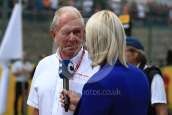 World © Octane Photographic Ltd. Formula 1 - Belgian Grand Prix- Grid. Helmut Marko - advisor to the Red Bull GmbH Formula One Teams and head of Red Bull's driver development program. Circuit de Spa Francorchamps, Belgium. Sunday 27th August 2017. Digital Ref: 1932LB1D8335