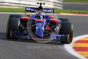 World © Octane Photographic Ltd. Formula 1 - Belgian Grand Prix - Friday - Practice 1. Carlos Sainz - Scuderia Toro Rosso STR12. Circuit de Spa Francorchamps, Belgium. Friday 25th August 2017. Digital Ref:1922LB1D4817