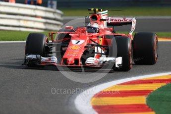 World © Octane Photographic Ltd. Formula 1 - Belgian Grand Prix - Friday - Practice 1. Kimi Raikkonen - Scuderia Ferrari SF70H. Circuit de Spa Francorchamps, Belgium. Friday 25th August 2017. Digital Ref:1922LB1D4822