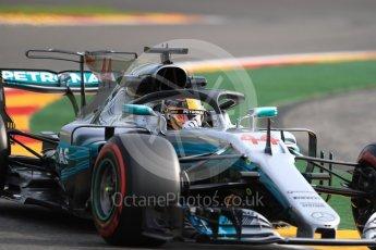 World © Octane Photographic Ltd. Formula 1 - Belgian Grand Prix - Friday - Practice 1. Lewis Hamilton - Mercedes AMG Petronas F1 W08 EQ Energy+ with Halo. Circuit de Spa Francorchamps, Belgium. Friday 25th August 2017. Digital Ref:1922LB1D4847