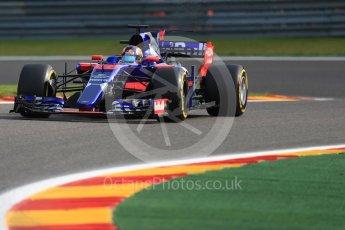 World © Octane Photographic Ltd. Formula 1 - Belgian Grand Prix - Friday - Practice 1. Daniil Kvyat - Scuderia Toro Rosso STR12. Circuit de Spa Francorchamps, Belgium. Friday 25th August 2017. Digital Ref:1922LB1D4872