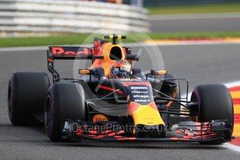 World © Octane Photographic Ltd. Formula 1 - Belgian Grand Prix - Friday - Practice 1. Max Verstappen - Red Bull Racing RB13. Circuit de Spa Francorchamps, Belgium. Friday 25th August 2017. Digital Ref:1922LB1D4899