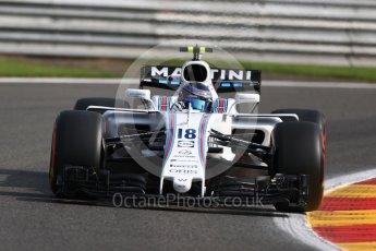 World © Octane Photographic Ltd. Formula 1 - Belgian Grand Prix - Friday - Practice 1. Lance Stroll - Williams Martini Racing FW40. Circuit de Spa Francorchamps, Belgium. Friday 25th August 2017. Digital Ref:1922LB1D5119