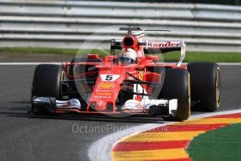 World © Octane Photographic Ltd. Formula 1 - Belgian Grand Prix - Friday - Practice 1. Sebastian Vettel - Scuderia Ferrari SF70H. Circuit de Spa Francorchamps, Belgium. Friday 25th August 2017. Digital Ref:1922LB1D5141