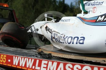 World © Octane Photographic Ltd. Formula 1 - Belgian Grand Prix - Friday - Practice 1. Felipe Massa - Williams Martini Racing FW40. Circuit de Spa Francorchamps, Belgium. Friday 25th August 2017. Digital Ref:1922LB2D5662
