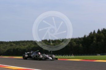 World © Octane Photographic Ltd. Formula 1 - Belgian Grand Prix - Friday - Practice 1. Kevin Magnussen - Haas F1 Team VF-17. Circuit de Spa Francorchamps, Belgium. Friday 25th August 2017. Digital Ref:1922LB2D5769