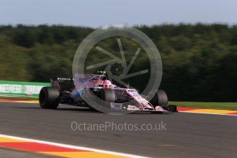 World © Octane Photographic Ltd. Formula 1 - Belgian Grand Prix - Friday - Practice 1. Esteban Ocon - Sahara Force India VJM10. Circuit de Spa Francorchamps, Belgium. Friday 25th August 2017. Digital Ref:1922LB2D5818