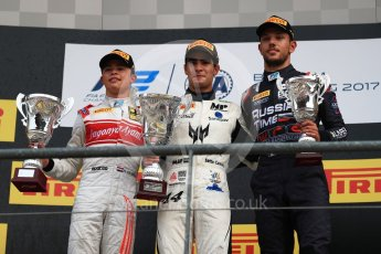 World © Octane Photographic Ltd. FIA Formula 2 (F2) - Race 2. Sergio Sette Camara (1st) – MP Motorsport, Nyck de Vries (2nd) – Racing Engineering and Luca Ghiotto (3rd) – Russian Time. Belgian Grand Prix, Spa Francorchamps, Belgium. Sunday August 27th 2017. Digital Ref:1926LB1D8051