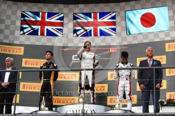 World © Octane Photographic Ltd. GP3 - Race 1. George Russell (1st), Jack Aitken (2nd) and Nirei Fukuzumi (3rd) - ART Grand Prix. Belgian Grand Pix - Spa Francorchamps, Belgium. Saturday 26th August 2017. Digital Ref:1927LB1D7470