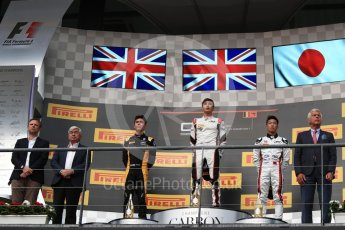World © Octane Photographic Ltd. GP3 - Race 1. George Russell (1st), Jack Aitken (2nd) and Nirei Fukuzumi (3rd) - ART Grand Prix. Belgian Grand Pix - Spa Francorchamps, Belgium. Saturday 26th August 2017. Digital Ref:1927LB1D7483