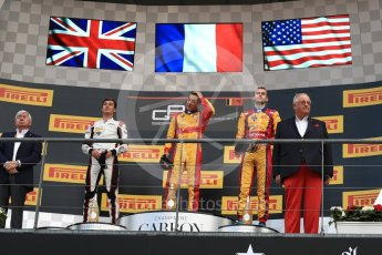 World © Octane Photographic Ltd. GP3 - Race 2. Guiliano Alsei (1st) – Trident, George Russell (2nd) - ART Grand Prix and Ryan Tveter (3rd) – Trident. Belgian Grand Pix - Spa Francorchamps, Belgium. Sunday 27th August 2017. Digital Ref: 1930LB1D7676