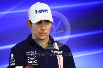 World © Octane Photographic Ltd. Formula 1 - Belgian Grand Prix – Thursday Driver Press Conference – Part 1. Esteban Ocon - Sahara Force India. Circuit de Francorchamps, Belgium. Thursday 24th August 2017. Digital Ref: 1919LB1D4438