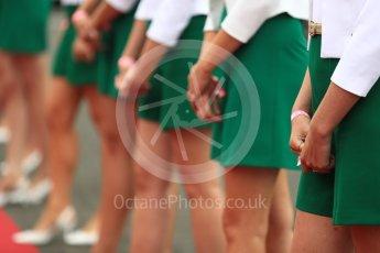 World © Octane Photographic Ltd. Formula 1 - British Grand Prix - Sunday - Drivers Parade. Grid Girls. Silverstone, UK. Sunday 16th July 2017. Digital Ref: 1891LB1D3385