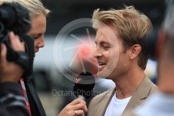 World © Octane Photographic Ltd. Formula 1 - British Grand Prix - Sunday - Grid. Nico Rosberg. Silverstone, UK. Sunday 16th July 2017. Digital Ref: 1891LB1D3622