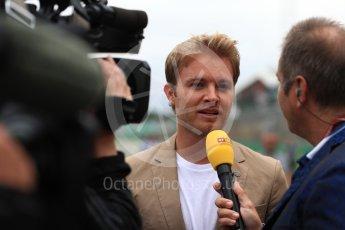 World © Octane Photographic Ltd. Formula 1 - British Grand Prix - Sunday - Grid. Nico Rosberg. Silverstone, UK. Sunday 16th July 2017. Digital Ref: 1891LB1D3670