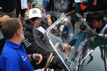 World © Octane Photographic Ltd. Formula 1 - British Grand Prix - Sunday - Drivers Parade. Lewis Hamilton - Mercedes AMG Petronas F1 W08 EQ Energy+. Silverstone, UK. Sunday 16th July 2017. Digital Ref: 1891LB2D9717