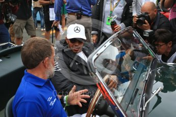World © Octane Photographic Ltd. Formula 1 - British Grand Prix - Sunday - Drivers Parade. Lewis Hamilton - Mercedes AMG Petronas F1 W08 EQ Energy+. Silverstone, UK. Sunday 16th July 2017. Digital Ref: 1891LB2D9735
