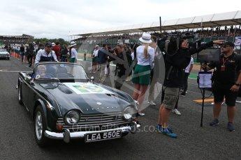 World © Octane Photographic Ltd. Formula 1 - British Grand Prix - Sunday - Drivers Parade. Lewis Hamilton - Mercedes AMG Petronas F1 W08 EQ Energy+. Silverstone, UK. Sunday 16th July 2017. Digital Ref: 1891LB2D9774