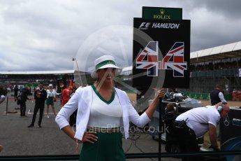 World © Octane Photographic Ltd. Formula 1 - British Grand Prix - Sunday - Grid. Lewis Hamiltons Grid girl. Silverstone, UK. Sunday 16th July 2017. Digital Ref: 1891LB2D9811