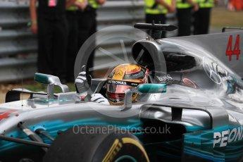 World © Octane Photographic Ltd. Formula 1 - British Grand Prix - Sunday - Race Podium. Lewis Hamilton - Mercedes AMG Petronas F1 W08 EQ Energy+. Silverstone, UK. Sunday 16th July 2017. Digital Ref: 1893LB1D4275