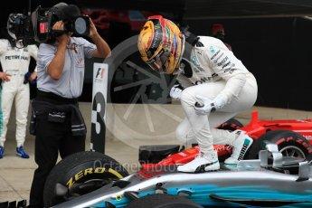 World © Octane Photographic Ltd. Formula 1 - British Grand Prix - Sunday - Race Podium. Lewis Hamilton - Mercedes AMG Petronas F1 W08 EQ Energy+. Silverstone, UK. Sunday 16th July 2017. Digital Ref: 1893LB1D4343