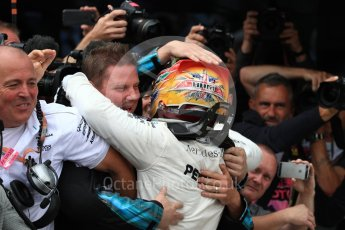 World © Octane Photographic Ltd. Formula 1 - British Grand Prix - Sunday - Race Podium. Lewis Hamilton - Mercedes AMG Petronas F1 W08 EQ Energy+. Silverstone, UK. Sunday 16th July 2017. Digital Ref: 1893LB1D4435