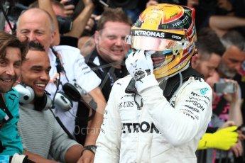 World © Octane Photographic Ltd. Formula 1 - British Grand Prix - Sunday - Race Podium. Lewis Hamilton - Mercedes AMG Petronas F1 W08 EQ Energy+. Silverstone, UK. Sunday 16th July 2017. Digital Ref: 1893LB1D4446