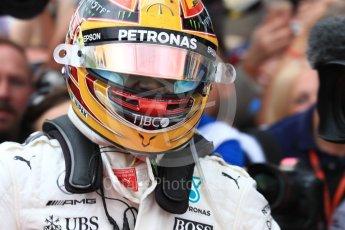 World © Octane Photographic Ltd. Formula 1 - British Grand Prix - Sunday - Race Podium. Lewis Hamilton - Mercedes AMG Petronas F1 W08 EQ Energy+. Silverstone, UK. Sunday 16th July 2017. Digital Ref: 1893LB1D4460