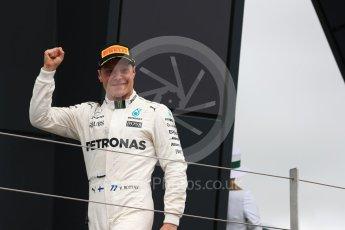 World © Octane Photographic Ltd. Formula 1 - British Grand Prix - Sunday - Race Podium. Valtteri Bottas - Mercedes AMG Petronas F1 W08 EQ Energy+. Silverstone, UK. Sunday 16th July 2017. Digital Ref: 1893LB1D4631