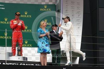 World © Octane Photographic Ltd. Formula 1 - British Grand Prix - Sunday - Race Podium. Lewis Hamilton - Mercedes AMG Petronas F1 W08 EQ Energy+. Silverstone, UK. Sunday 16th July 2017. Digital Ref: 1893LB1D4665