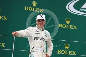World © Octane Photographic Ltd. Formula 1 - British Grand Prix - Sunday - Race Podium. Valtteri Bottas - Mercedes AMG Petronas F1 W08 EQ Energy+. Silverstone, UK. Sunday 16th July 2017. Digital Ref: 1893LB1D5390