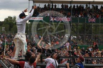 World © Octane Photographic Ltd. Formula 1 - British Grand Prix - Sunday - Race Podium. Lewis Hamilton - Mercedes AMG Petronas F1 W08 EQ Energy+. Silverstone, UK. Sunday 16th July 2017. Digital Ref: 1893LB1D5619