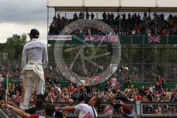 World © Octane Photographic Ltd. Formula 1 - British Grand Prix - Sunday - Race Podium. Lewis Hamilton - Mercedes AMG Petronas F1 W08 EQ Energy+. Silverstone, UK. Sunday 16th July 2017. Digital Ref: 1893LB1D5626