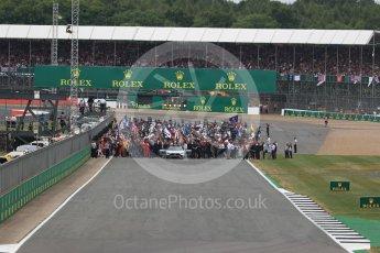 World © Octane Photographic Ltd. Formula 1 - British Grand Prix - Sunday - Race. The grid. Silverstone, UK. Sunday 16th July 2017. Digital Ref: 1892LB1D3685
