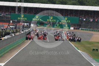 World © Octane Photographic Ltd. Formula 1 - British Grand Prix - Sunday - Race. The grid. Silverstone, UK. Sunday 16th July 2017. Digital Ref: 1892LB1D3691
