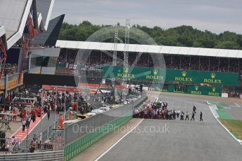 World © Octane Photographic Ltd. Formula 1 - British Grand Prix - Sunday - Race. The grid. Silverstone, UK. Sunday 16th July 2017. Digital Ref: 1892LB1D3744
